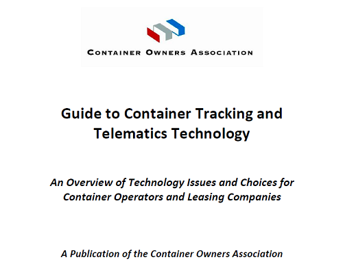"The Container Owners Association has published a ""Guide to Container Tracking and Telematics Technology"""