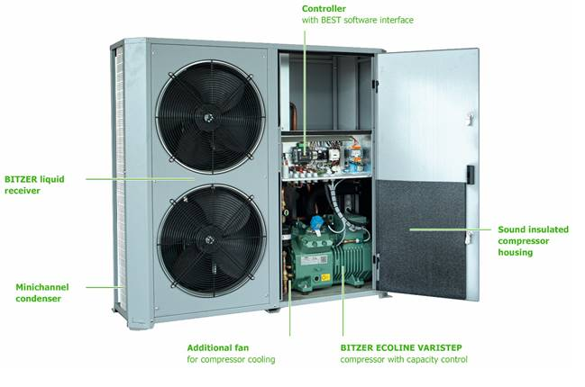 BITZER ECOLITE condensing units are designed for both low and medium temperature applications