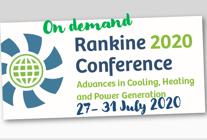 IIR International Rankine 2020 Conference Highlights Opportunities And Challenges For The Future
